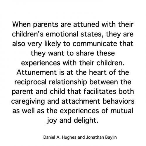 attunement, attune, in tune, attune with your children